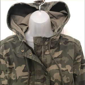 NEW wTag-LUCKY Brand Hooded Camouflage Jacket Sz L